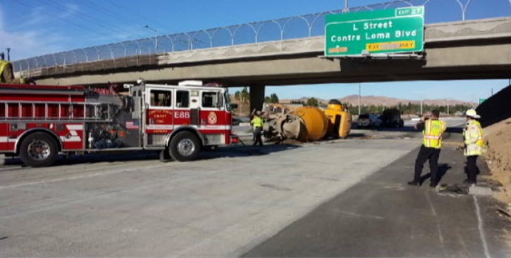 Big Rig Overturns, All Lanes Cleared on Westbound Hwy 4 in Antioch