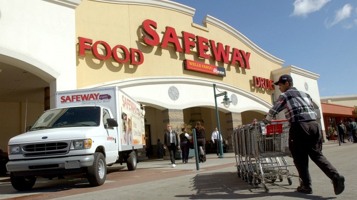 A new Safeway.com delivery van is parked in front of a Safeway store March 13, 2002 in San Francisco, CA. Safeway Inc. formally launched the Safeway.com grocery home delivery service to consumers living in the greater San Francisco Bay Area. Safeway will
