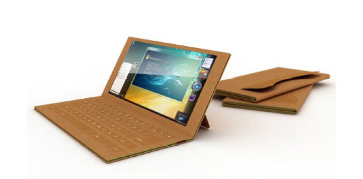 A Recyclable Paper Laptop You Can Throw Away