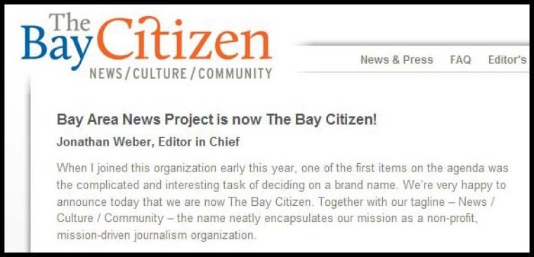 'Bay Citizen' Gets New Funding