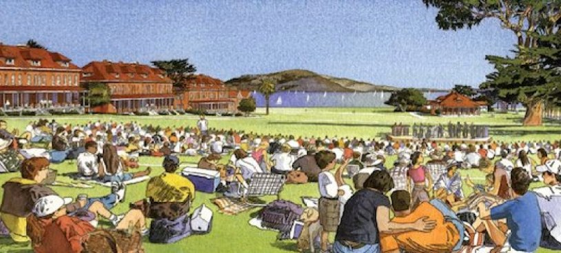 Presidio's Main Post Overhaul Turns Parking Lot to Grass by 2011