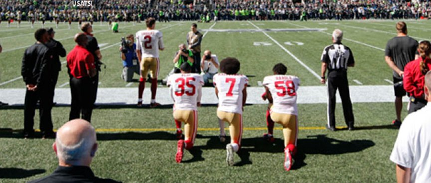 Harold Joins Kap, Reid in Taking Knee During Anthem
