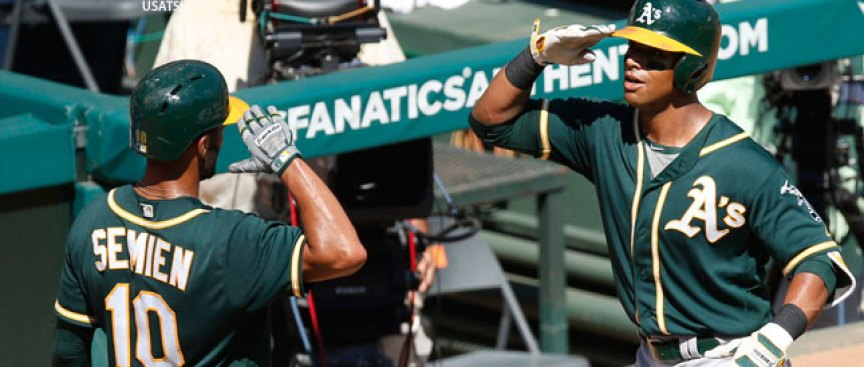 Davis Hits Home Run No. 40, A's Take Series From Rangers