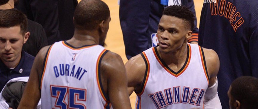 Durant on Relationship With Westbrook: 'We're Still Cool'