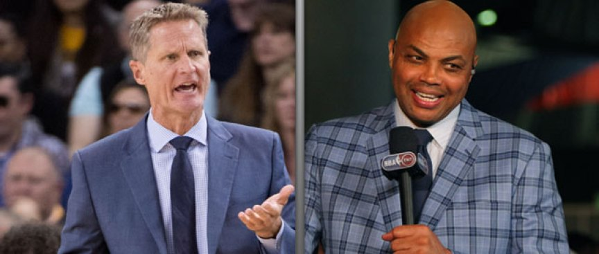 Kerr Befuddled by Barkley's Criticism of Warriors: 'I Think He Goes Overboard'