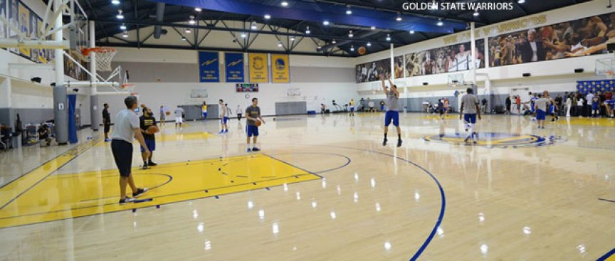 Watch Durant, Curry, Thompson Shooting at Warriors Training Camp