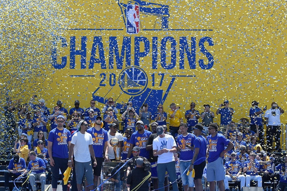 Warriors Celebrate NBA Championship with Dub Nation