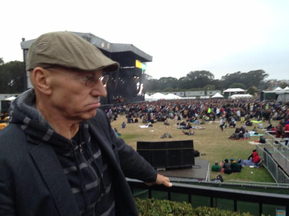 Sir Patrick Stewart Attends, Enjoys Outside Lands