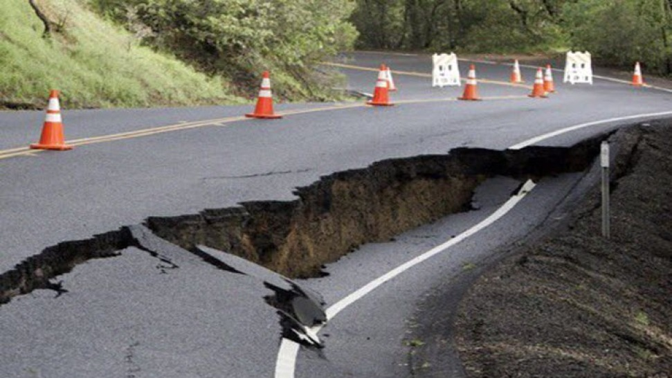 State Highway 121 in East Napa County Closed from Erosion
