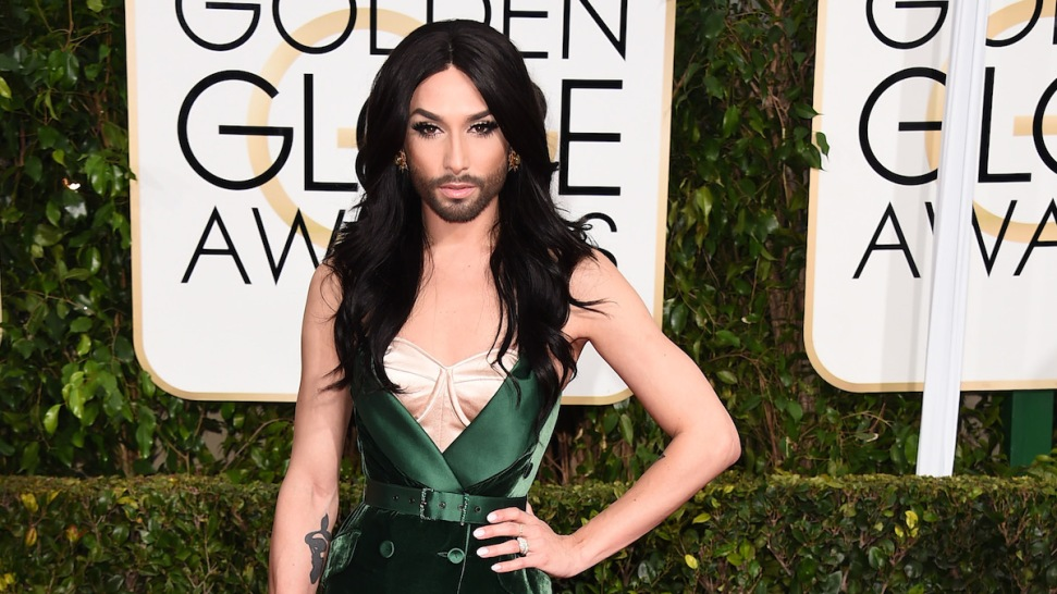 Meet Conchita Wurst, aka the Woman Who Worked a Serious Beard During the Golden Globes Red Carpet