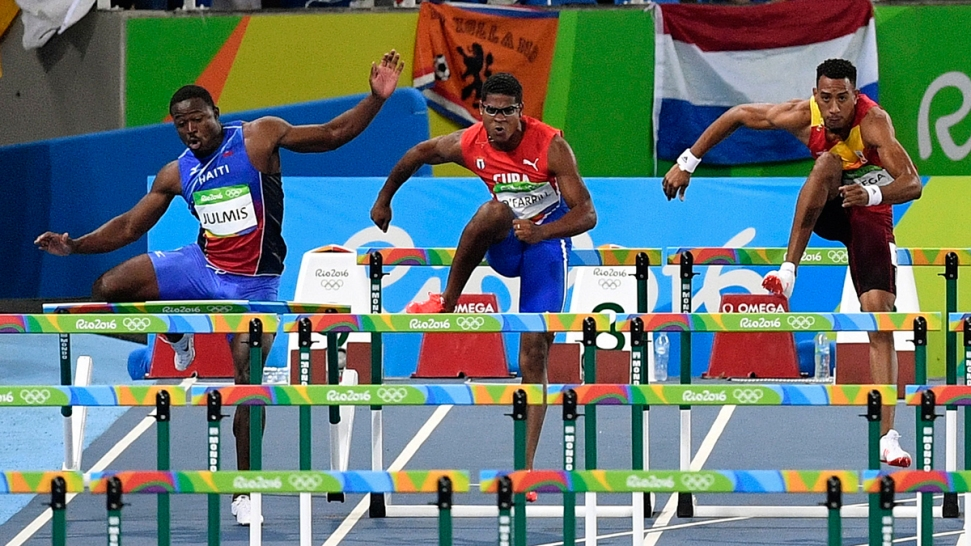 Haitian Hurdler Can't Navigate First Jump