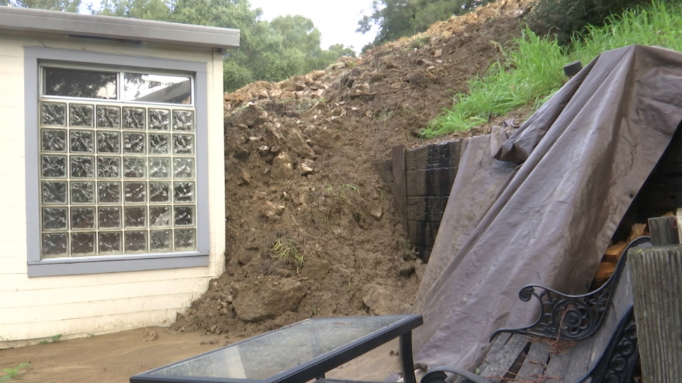 Water Still Trickles Through Mud and Rocks at Mudslide That Slammed Into Orinda Home