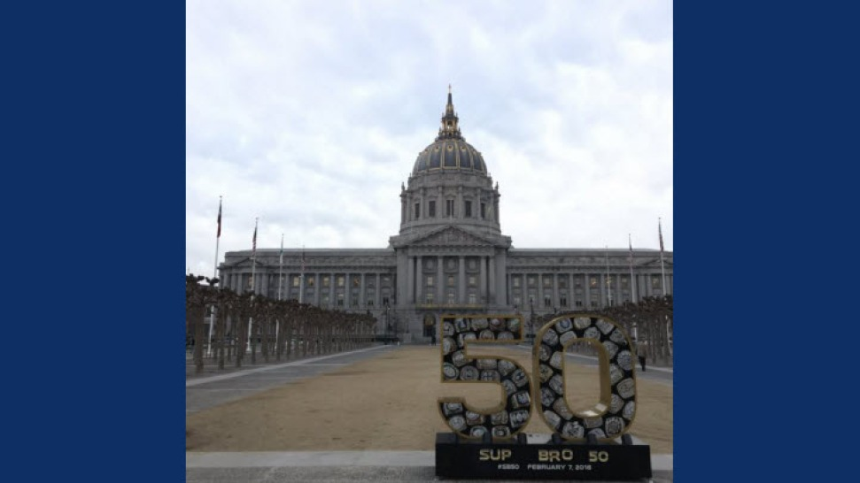 Super Bowl Statue Vandalized (Again) At San Francisco City Hall