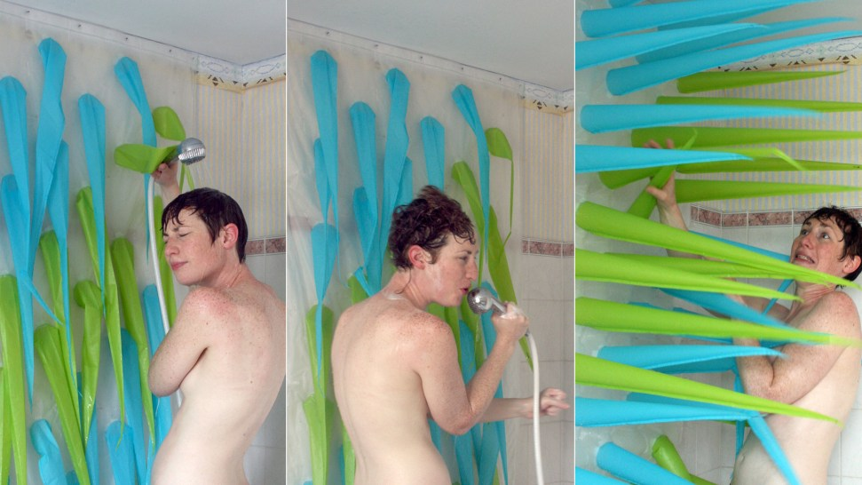 Inflatable Shower Curtain Inspired By Medieval Torture Devices Lets Bathers Know When Its Time To Get