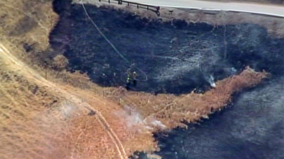 Fire Burns Near Alum Rock Park in San Jose