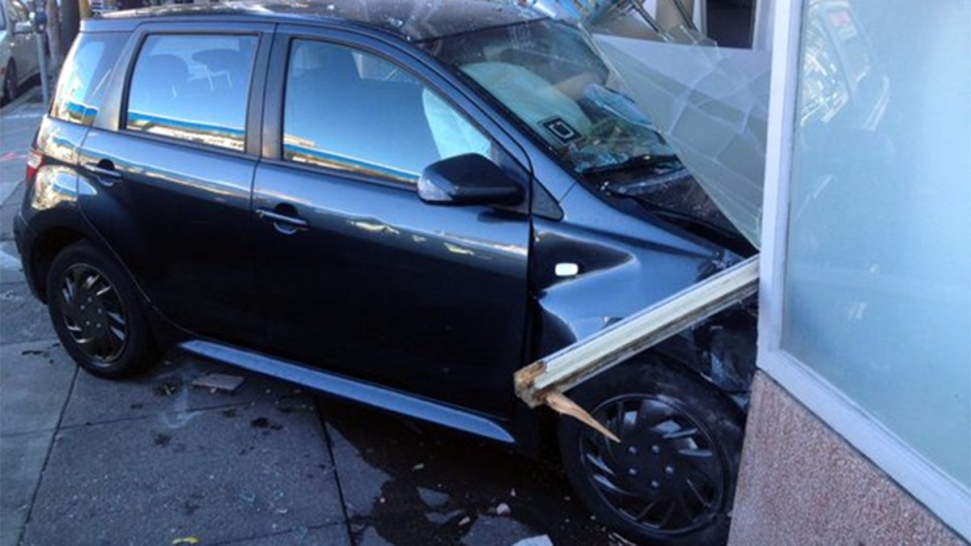 Uber-Affiliated Vehicle Crashes Into Building in San Francisco's SoMa