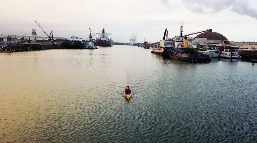 kayak commute bay area woman finds creative way to get to work