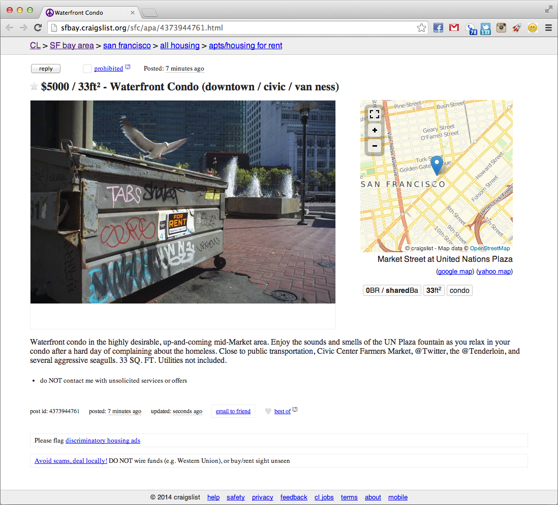 "Rent In San Francisco Bay Area: ""For Rent:"" Photographer Parodies San Francisco's"