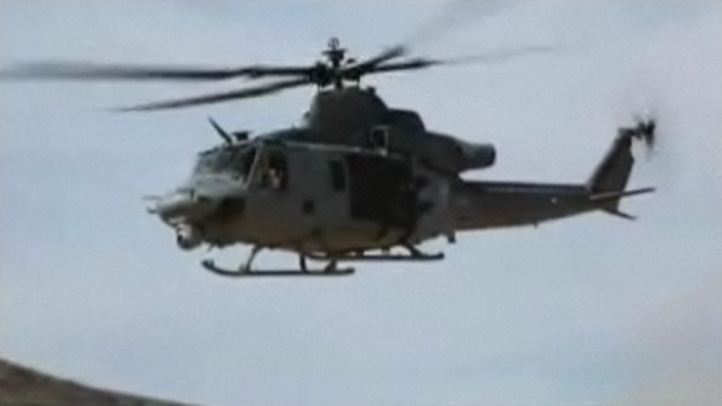 The aircraft that crashed was a UH-1Y, similar to the one shown.