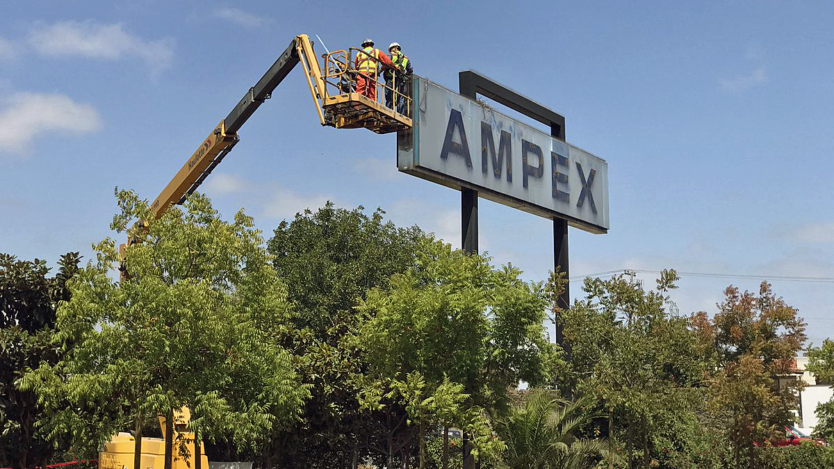 Ampex Sign, Long a Silicon Valley Fixture, Being Dismantled