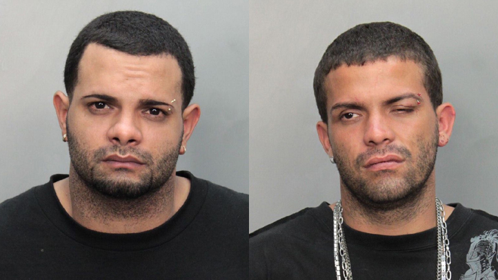 Brothers, Luis Baez and Jonathan Baez, were arrested for allegedly attacking their airline pilot after being kicked off a plane.