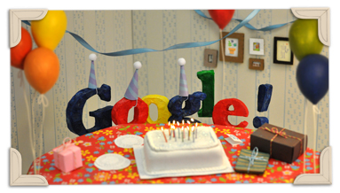 Google Doodles Itself a Birthday Cake