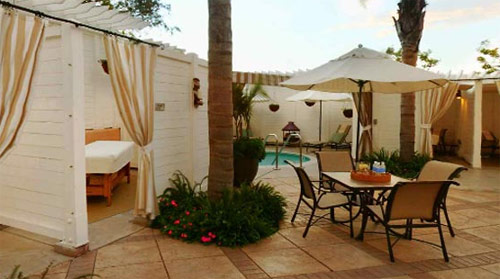 The Sea Spa has a number of outdoor cabanas for outdoor massages. The Watsu Flotation treatment is performed in a custom, 98 degree pool, where the body is stretched and massaged to promote relaxation