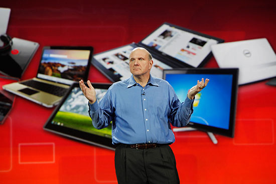 Microsoft CEO Steve Balmer could unveil a new tablet Monday.
