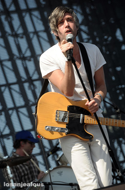 Guitarist/vocalist of We Are Scientists, Keith Murray (pictured), performs last year