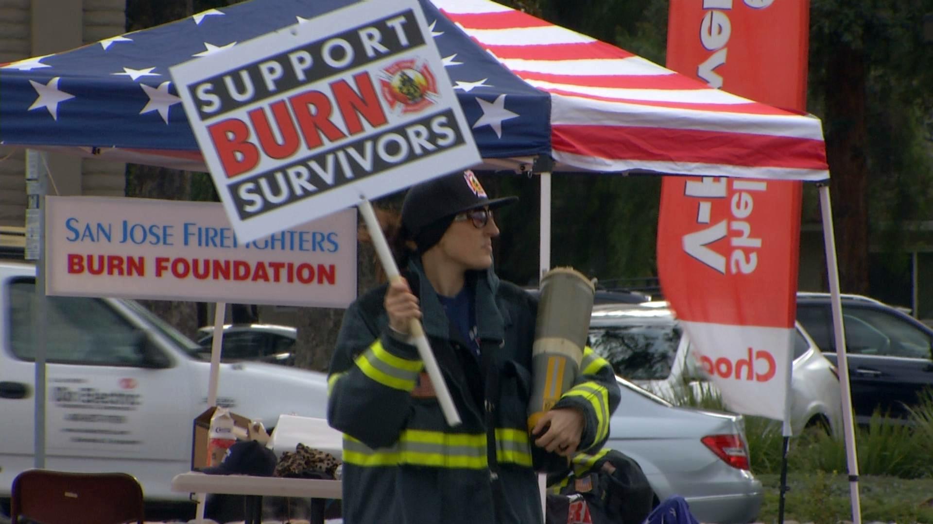 559ae8ca6511 San Jose firefighters help raise money for burn victims. (Nov. 26